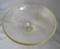 1950s Vintage Holophane Swirled Ribbed Glass Ceiling Light
