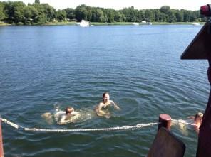 Vom Floß direkt in die Havel