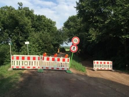 Umleitungen Elberadweg nach Dessau