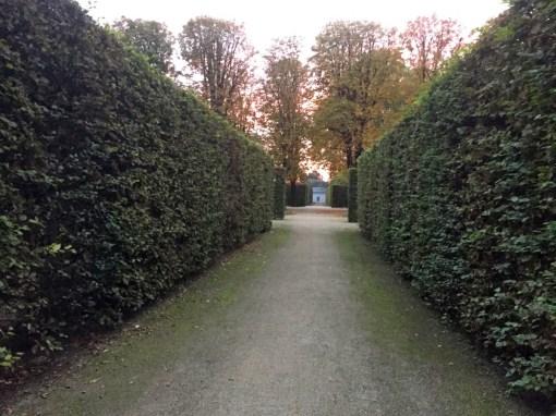 Sonnenuntergang im Schlosspark