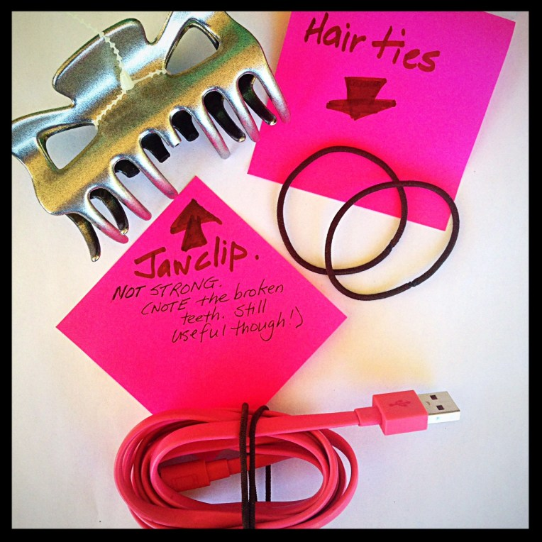 Hair ties (& jaw clips)