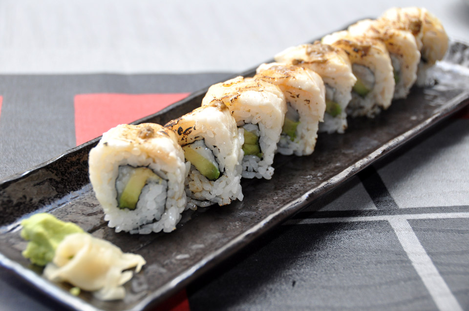 Mantequilla roll flambeado