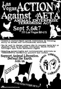 The AETA would make animal rights activists terrorists.