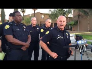 Chief Dyer with Foster and three other deputy chiefs.