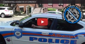 Confronting Albany PD at a Protest