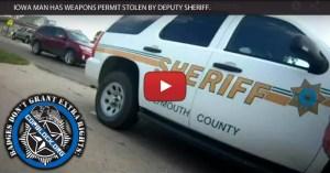 Iowa man has weapon permit stolen