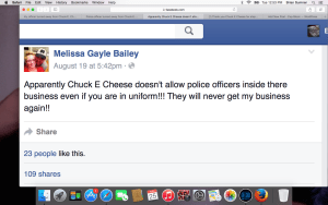 Armed Off Duty Cop Wasn't Served at Chuck E Cheese