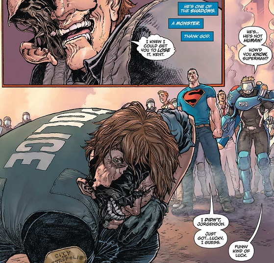 Superman punches cop that turns out is an alien