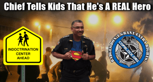 Police Chief Tells Children That He's A Hero