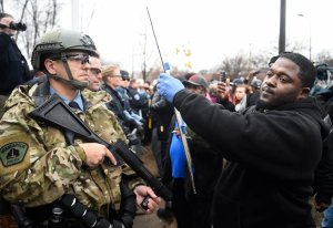 Police Clash with Jamar Clark Protesters