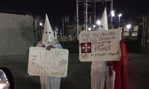 Did New England Police Benevolent Association Members Wear KKK Outfits to Nevada Caucus?