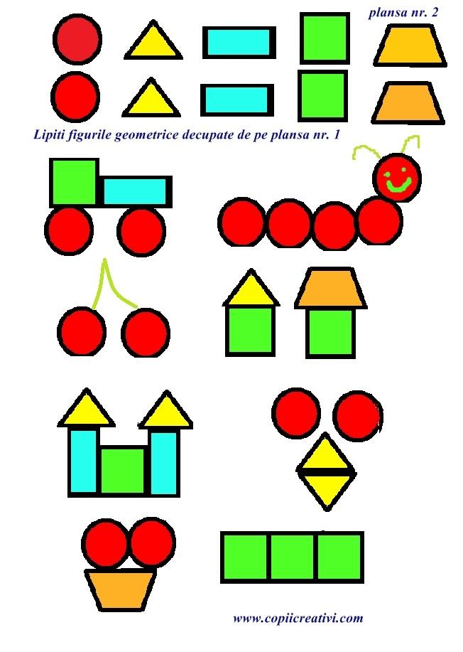 Desenam și ne jucam cu -Figuri geometrice