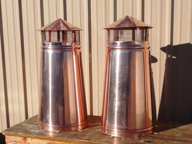 Decorative Copper Chimney Pot