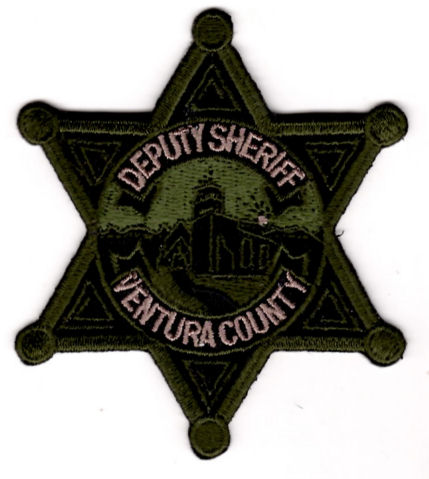 Ventura County Sheriff\u0027s Office - Star Badge Patch - Subdued - 20 Off