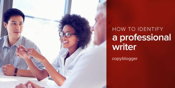 how to identify a professional writer