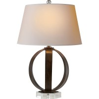 Visual Comfort E.F. Chapman Metal Banded Table Lamp