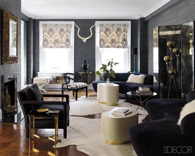 Copy Cat Chic Room Redo Elle Decor Noir Living Room - copycatchic - elle decor living rooms