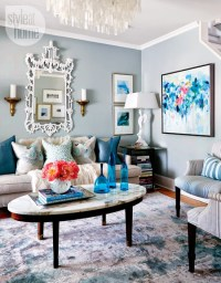 Copy Cat Chic Room Redo | Sky Blue Living Room - copycatchic