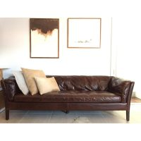 Restoration Hardware Sorensen Leather Sofa - Copy Cat Chic