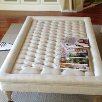 Restoration Hardware Tufted Coffee Ottoman - Copy Cat Chic