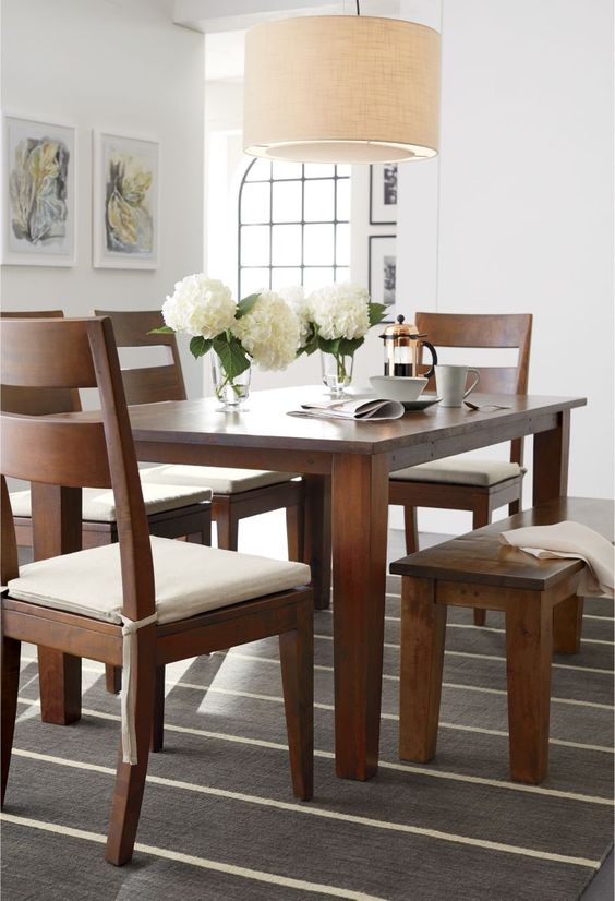 Daily Find Crate And Barrel Basque Honey Wood Dining
