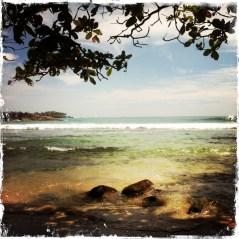 Yoga copywriter's view of the ocean
