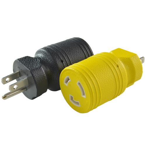 Conntek 30221-BK  30221-YW 5-15P to L5-20R Plug Adapters