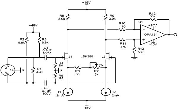 simple preamp with one transistor audio circuit
