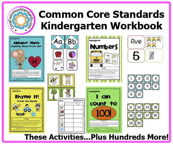 Lesson Plan Template The Autism Helper Kindergarten Common Core Workbook Usb