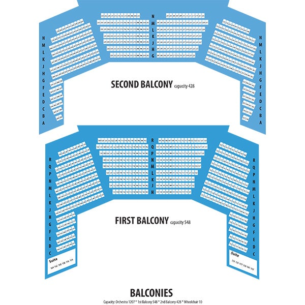 Seating Charts Core Entertainment
