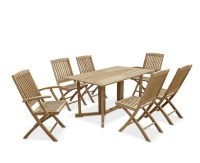 Shelley Rectangular Folding Garden Table and Chairs Set ...