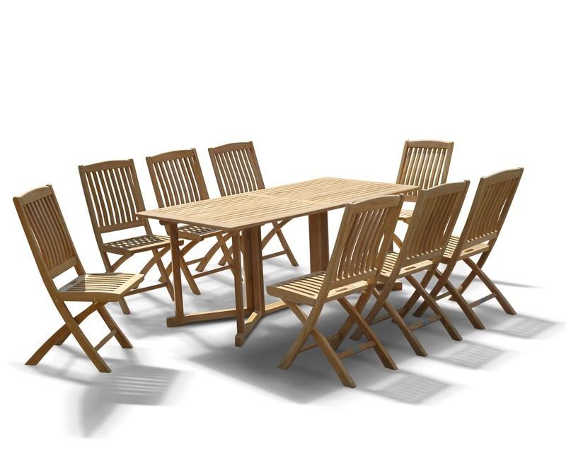 Shelley Gateleg Folding Garden Table And Chairs Set 8