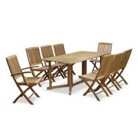 Shelley Teak Garden Drop Leaf Table and Chairs Set ...