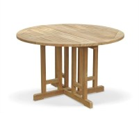 Berrington Drop Leaf Round Garden Table and Arm Chairs