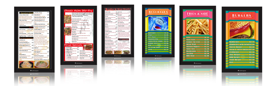 digital menu board templates