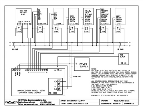 wiring diagram for nurse call system