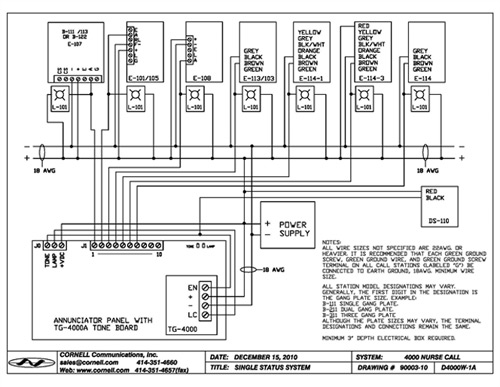 nurse call systems wiring diagram