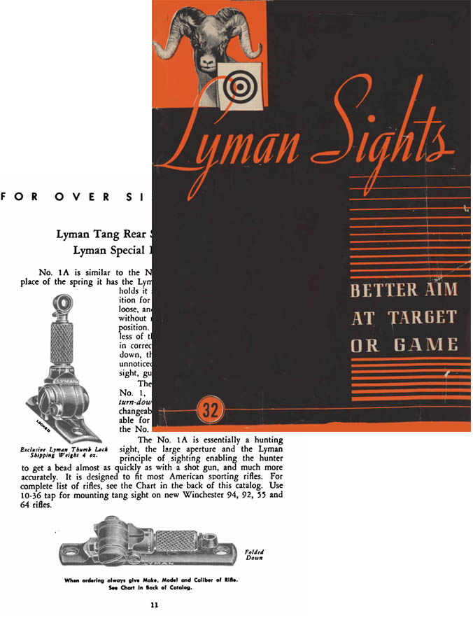 Cornell Publications -Lyman c1947 Sights No 32