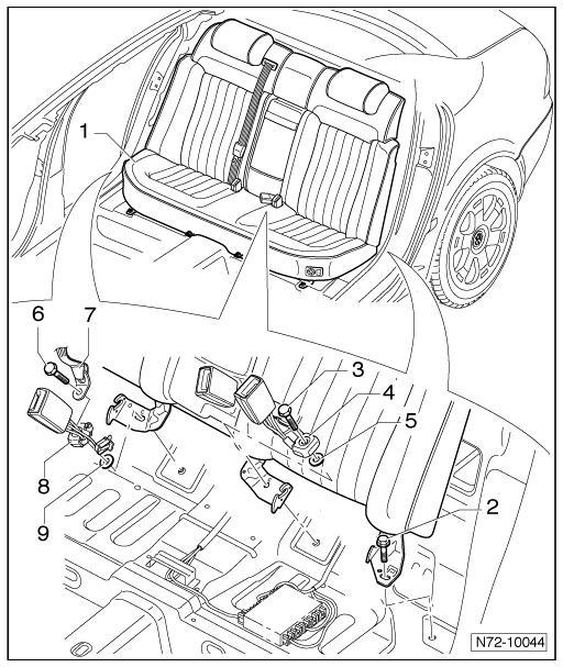 01 jetta seat belt diagram