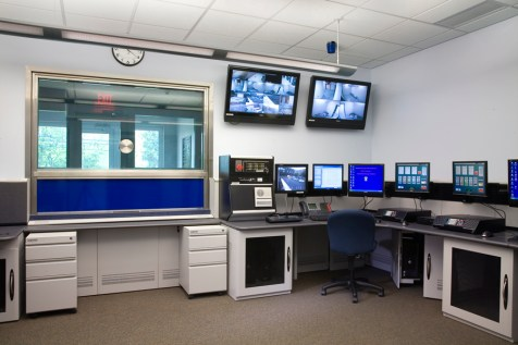 cm08-02 control room looking out to entry to Middlesex Police St