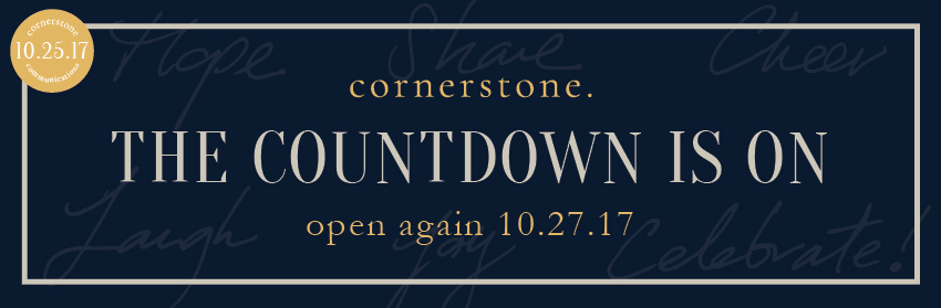 the countdown is on Cornerstone