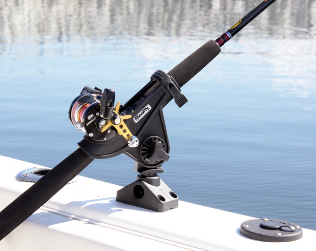 Scotty Bait Caster Spinning Rod Holder With Side Deck