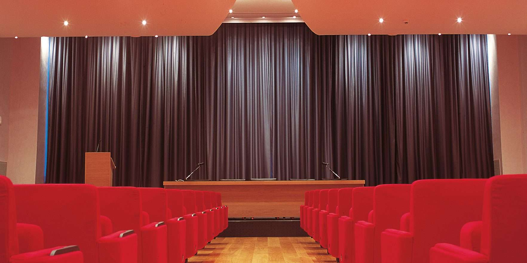 School Hall and Stage Curtains