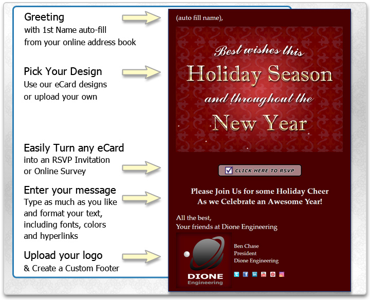 Business Holiday eCards for Thanksgiving Season\u0027s Greetings - rsvp e cards