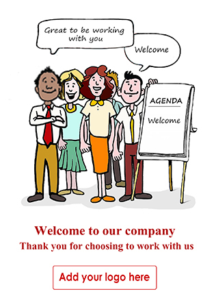 Personalised Client Welcome Cards - Corporate Greetings UK