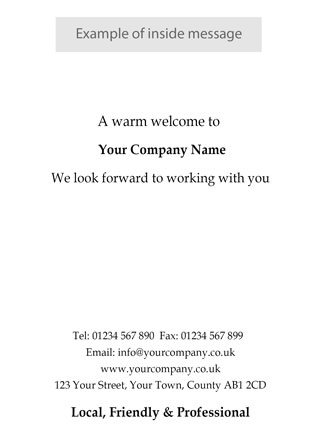 Welcome - W23 - Corporate Greetings UK - welcoming messages for new employees