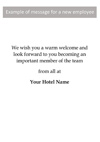 Welcome - HW28 - Corporate Greetings UK - welcoming messages for new employees