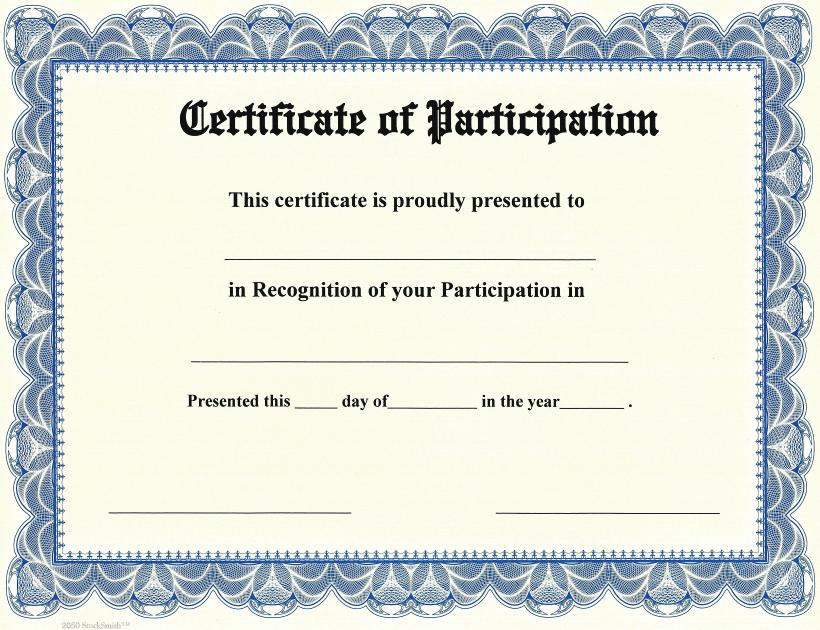 certificates of participation - Trisamoorddiner