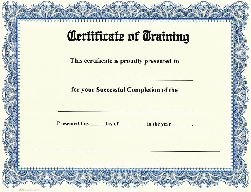 Certificate of Training on StockSmith Border / Qty 20