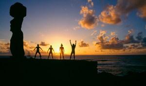 Il culto del sole. Isola di Pasqua, 1987, cm. 47x32